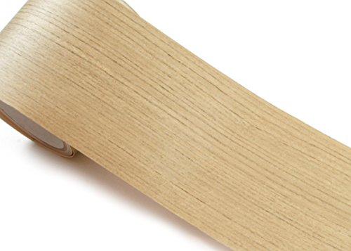 Peel & Stick Grenze Aufkleber Teak Holz Muster Kontakt Papier selbstklebend abnehmbarer Bordüre Rolle kw078-b: 10cm von 1,64Feet (Peel Und Stick Holz Wallpaper)