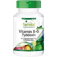 Vitamin B-6 Pyridoxin 100mg - 100 Tabletten - vegetarisch - für die Wohlfühl-Balance