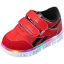 YWLINK Al Aire Libre Ocio para NiñOs Luminoso LED Calzado Deportivo Luces Calzado Zapatos Brillantes Deporte