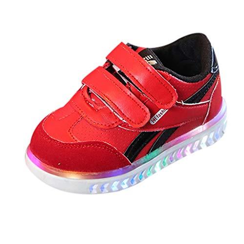 Leuchtende Baby Mädchen und Jungen Kleinkind Mode Stern Leuchtendes Kind Bunte helle Schuhe Kinder mit Licht Blinkende Turnschuhe Klettverschluss ()