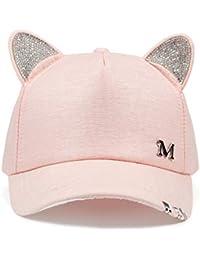 Knncch Nuevo Miau Sombrero De Otoño De Verano para Mujer Orejas De Gato  Gorra De Béisbol con Anillos Y Encaje… d8895b00f07