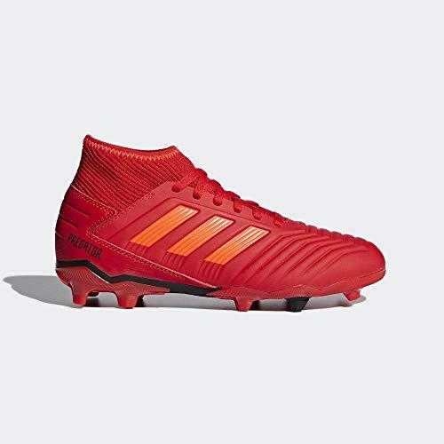 Adidas PREDATOR 19.3 FG J, Jungen Fußballschuhe, Rot (Active Red/Solar Red/Core Black 0), 37 1/3 EU