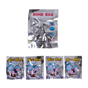 MG Universal 10 Pcs Novelty Fart Bomb Bags Stink Bomb Smelly Funny Bags Party Weird Stuff Gag -