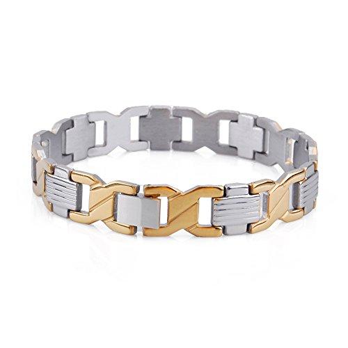 Pridot Bijoux Enfer en Acier Inoxydable Série Hommes Bracelet Fashion Holiday Gift Pour Mari ou Petit Ami Poli B