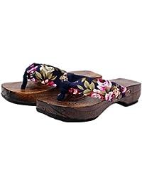 Zapatillas de damas, mujeres Sandalias y chanclas, zapatillas de playa de moda,34,negro verde