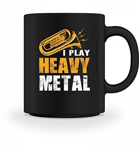 Hochwertige Tasse - Trompete Tuba Musiker Blasmusik Blaskapelle Musik Musikinstrument Hobby Lustig Spruch Pulli Jacke Hoodie T-Shirt Geschenk (Mit Hoodie Musikinstrumenten)