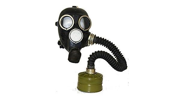 Taille: L Petites Membranes Couleur: Noir Oldshop R/ÉPLIQUE Masque Gp-7V Caoutchouc Arm/ée Russe avec /Équipement Complet: Masque Filtre et Flacon Sac