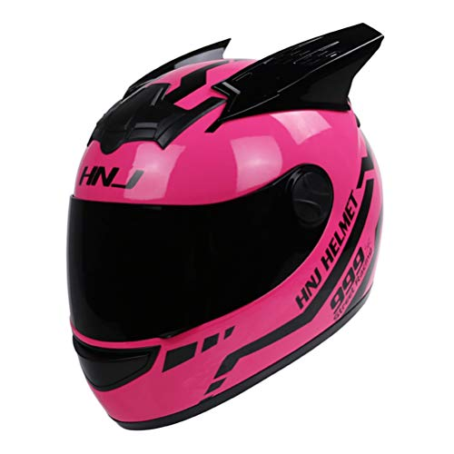 Casco moto mujer Casco moto Casco oreja moto Personalidad
