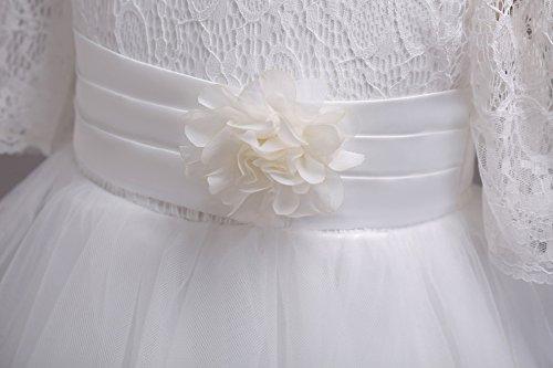 8d946a071 Juleya Vestido De Flores Niñas Falda Pétalos De Flor Cinturón De Tul  Elegante Vestido De Princesa Bebé Niñas Vestidos para Fiesta Comunion ...
