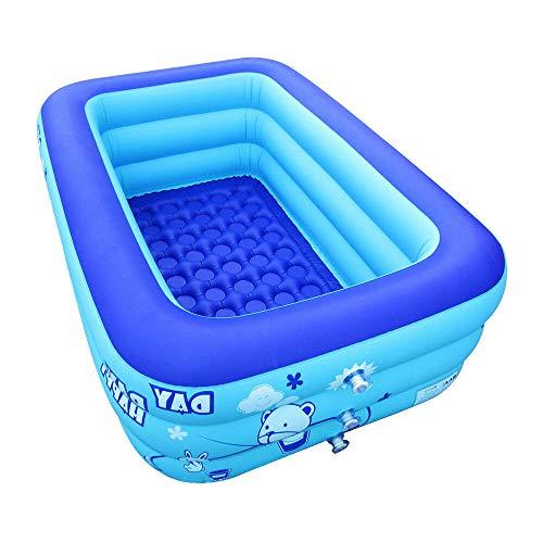NJSTAR Aufblasbarer Swimmingpool, Erwachsene Badewanne Der Heißen Wannen-Kinder Tragbares Im Freien Foot Pump Inflation S