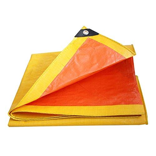 HAIPENG Plane Gewebeplane Holzplane Abdeckplane Schutzplane Wasserdicht Schwerlast Draussen, Mehrere Größen, 650G/M² (Farbe : Orange+Yellow, größe : 2x2m)