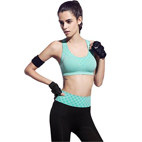 XWXW Donna Reggiseno Sportivo Senza Ferretto Green