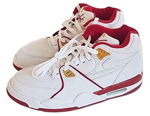 Nike OG 2005 Air Flight 89 Basketball Sneaker Schuhe White/Varsity Red Classic Original Vintage Herren UK 8, EU 42.5 - Basketball-schuhe Herren Nike Flight