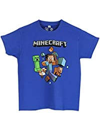 "Minecraft ""Run Away"" boys Minecraft short sleeve T-shirt age 11 to 12"
