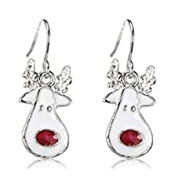 Rudolph the Red Nosed Reindeer Christmas 925 Sterling Silver Earrings Christmas Costume Jewellery UK Seller