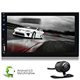 Gratis-R¨¹ckfahrkamera + Externes Mikrofon Android 6.0 Autoradio 7 Zoll Auto-Stereo-Empf?nger GPS-Navigationssystem HD kapazitive Touchscreen Car Autoradio 2 DIN-Radio-Audio-Video-Player mit WiFi / Bl