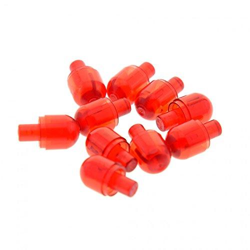 Bausteine gebraucht 10 x Lego Bionicle Licht Stein Kappe Transparent Rot mit Stecker Lampen Auge 58176