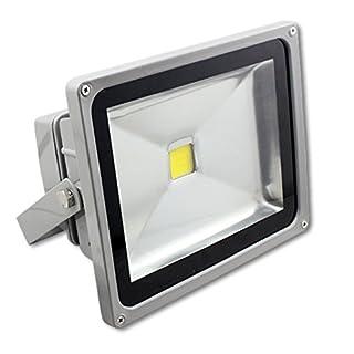 MCTECH Grau 50W Led Fluter Kaitweiß 6000~6500K LED Fluter Lampe Strahler Scheinwerfer Licht Wasserdicht IP65 4500-5000 Lumen 230V Aluminium (Kaitweiß)
