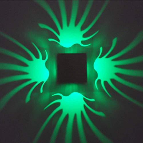WETRR Modernes minimalistisches LED Quadrat Wandleuchte Hintergrund Wandstrahler Überall Nightlight Wandleuchte für Eingang Flur Keller Garage Bad Schrank 2 Stück,Green