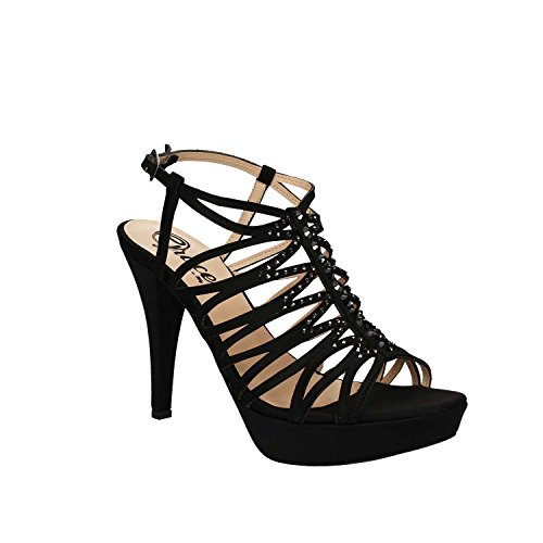 GRACE SHOES 3023 Sandalo tacco Donna Nero