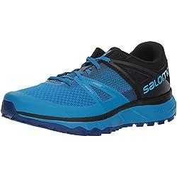 Salomon Trailster, Zaptillas de Running para Hombre, Azul Black/Indigo Bunting, 42 2/3 EU
