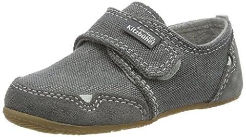 Living Kitzbühel Jungen Klettmodell Jeans Hausschuhe, Grau (Steel Grey), 28 EU