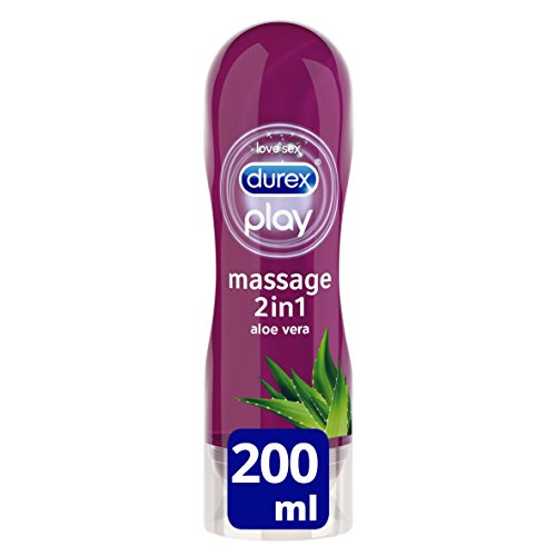 Durex Play Massage 2 en 1 gel de masaje y lubricante con Aloe Vera 200 ml