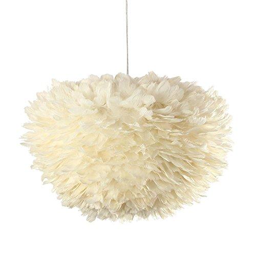 Preisvergleich Produktbild GBT Stylische Lampe Komplett Mit Kabel Pendelleuchte, Echte Federn