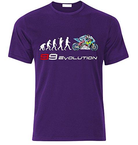 99 Jorge Lorenzo Biker EVOLUTION Yamaha M1 R1 Moto GP fan T-shirt size S-XXL Weihnachtsgeschenke Xmas Lila