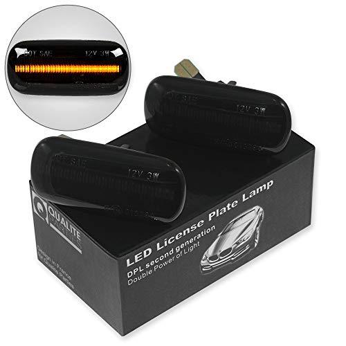 2x LED SEITENBLINKER BLINKER SCHWARZ SMOKE