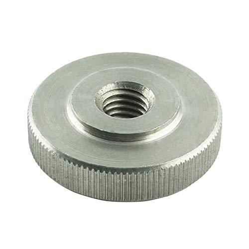 Eisenwaren2000 | M6 Rändelmuttern niedrige Form (5 Stück) - Rändel-Mutter DIN 467 - Edelstahl A1 1.4305 - rostfrei
