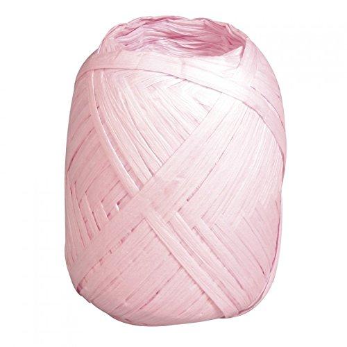Rayher Hobby 52002254 Premium Papierbast, zartrosa, Knäuel 75 m, aus 100% Holzfaser, Naturbast, recycelbar, Bast zum häkeln, stricken, weben, binden