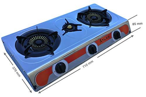 Tecatel - Cocina de gas uso exterior serie ATLAS GE03 INOX