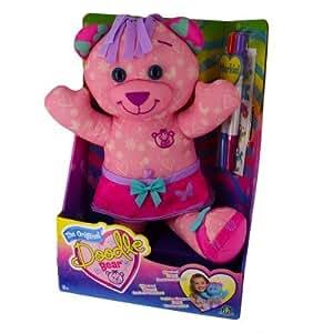 Peluche Doodle Bear 40 cm à colorier : Rose