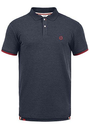 !Solid BenjaminPolo Herren Poloshirt Polohemd T-Shirt Shirt Mit Polokragen, Größe:L, Farbe:Insignia Blue Melange (8991) -