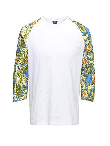 Jack & Jones Herren T-Shirt jjorFilur L/S Tee 12105083 Weiß