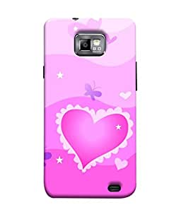 Fuson Designer Back Case Cover for Samsung Galaxy S2 I9100 :: Samsung I9100 Galaxy S Ii (Hearts Spades Aces cards Red Love )