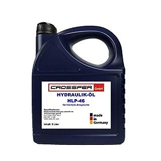 CROSSFER Hydrauliköl HLP46 5 Liter für Hydraulikpressen, Holzspalter, Wagenheber, Hydraulikflüssigkeit Hydraulikfluid 46er Viskosität