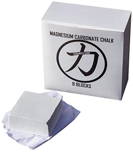 Strengthshop Magnesia Chalk, 8 x 52g Blöcke Powerlifting Weightlifting Gewichtheben Strongman Griff Grip