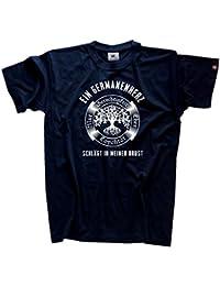 Viking-Shirts Ein Germanenherz schlägt in meiner Brust Wikinger odin walhalla T-Shirt S-XXXL