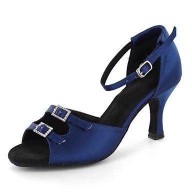 Chaussures De Danse-personnalisable-womens-latin-american Dance-custom-heel-faux Cuir-noir / Bleu / Autre Noir