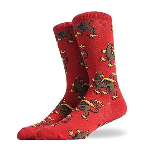 JAZ6 Calzini da uomo 3 paia 5 paia 10 paia Autunno e inverno Nuovi calzini stampati per uomo Calzini in cotone traspirante alla moda da uomo Calzini casual da uomo