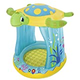 LLVV Turtle Sunshade Paddling Pools Kiddie Pools Aufblasbarer Swimmingpool für Kinder im Freien...