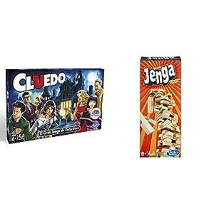 Hasbro Gaming Gaming Clasico Cluedo (Versión Española), Miscelanea (38712546) + Jenga Classic, única (A2120EU4)