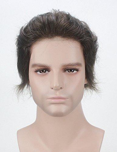 Lordhair Transparent Super Thin Skin Toupee 100% Human Hair #3 with 20% Grey Hair