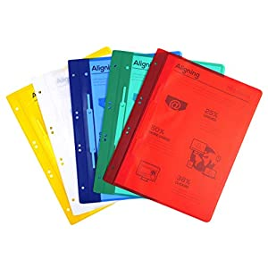Exacompta 438203B Plastic Folder Document ABO HKD Film (200µ, 6 holes, Hanging File A4 Red