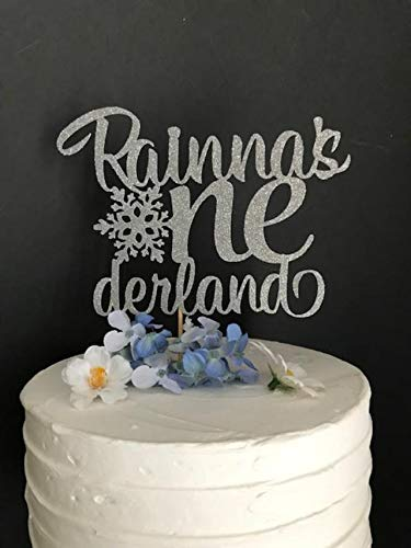 Beliebiger Name Beliebiges Alter Geburtstag Cake Topper Winter Onederland Cake Topper Winter Wonderland Topper Gefrorener Geburtstag Cake Topper 1. Geburtstag