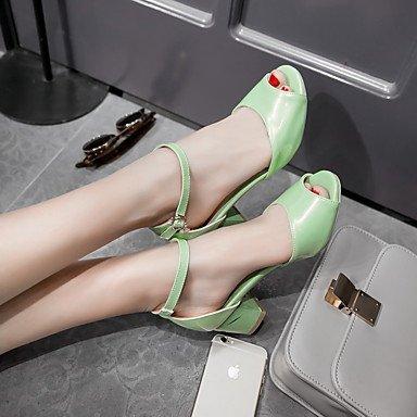 LvYuan Da donna-Sandali-Formale Casual Serata e festa-Altro-Quadrato-PU (Poliuretano)-Verde Rosa Bianco Green