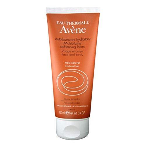 Eau thermale avène gel autoabbronzante idratante viso e corpo, effetto seta, 3.3 fl. oz