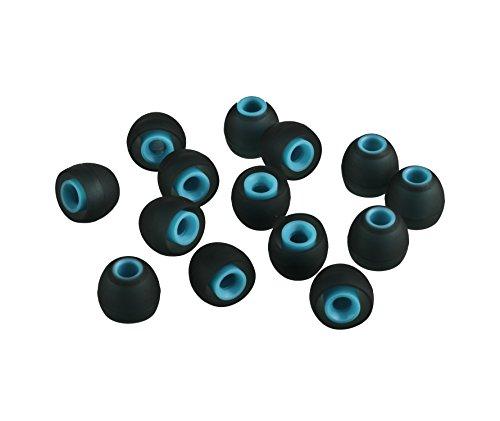 XCESSOR (S) 7 Paar (14 Stück) Silikon-Ersatz-Ohrhörer Klein Größe Ersatz-Ohrstöpsel für Beliebte in-Ear-Kopfhörer. Schwarz/Blau thumbnail